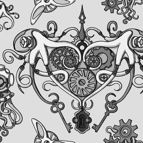 OCTOPUS in love gray