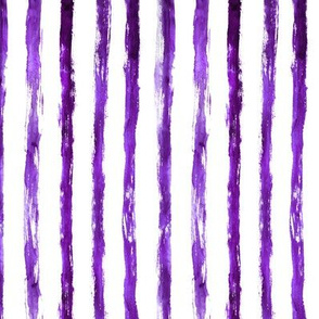 Grungy purple stripes, vertical || watercolor minimal pattern