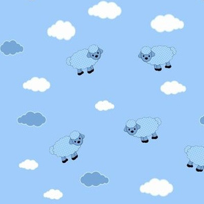 Baby Sheep Collection, Sheeps and clouds