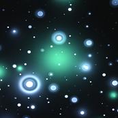 Dark Green and Light Blue Star Field