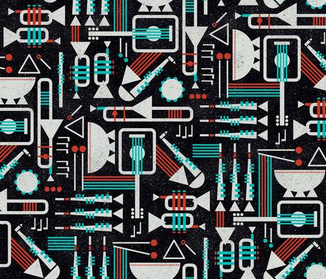 Bauhaus Band fabric by beckarahn on Spoonflower - custom fabric