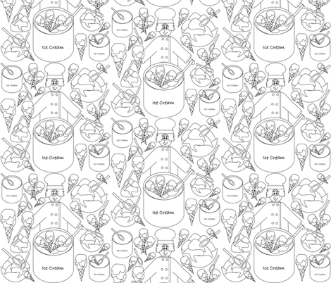 Food Frenzy Lake Coloring Challenge fabric by lworiginals on Spoonflower - custom fabric