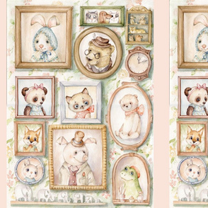 Vintage Bears Pigs Cats,Frog Inga Izmaylova