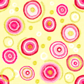 Bauhaus Pink Blooms with Gold Pollen (yellow)