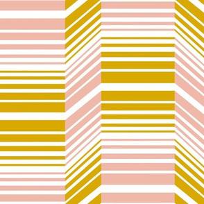 Delineate - Blush Mustard Bauhaus Geometric