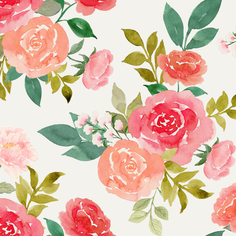 Rosy fabric by mintpeony on Spoonflower - custom fabric