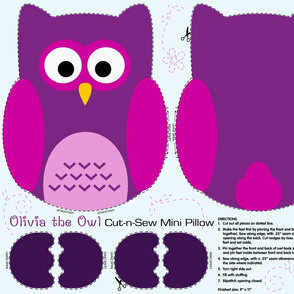 Olivia the Owl Cut and Sew Pillow