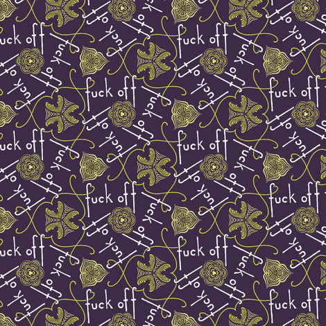 Fuck Off - cool fabric by secretbean on Spoonflower - custom fabric