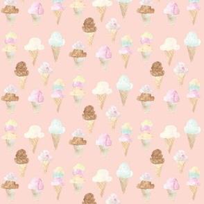 ice cream cones pink mini