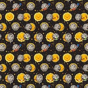 Solar eclipse small size