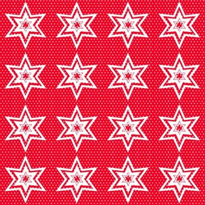 Polka Dotted Stars, Red