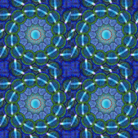 Blue Grass & Neon fabric by carlacryptic on Spoonflower - custom fabric
