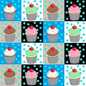 Sugary Sweet Patches / colorful cupcakes