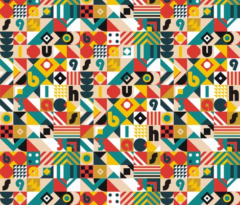 Bauhaus Movement fabric by toy_joy on Spoonflower - custom fabric