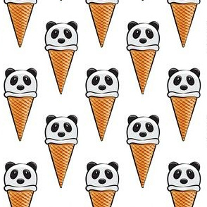 panda icecream cones