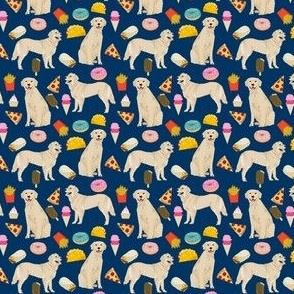 golden retriever (small scale) junk food dog breed fabric blue