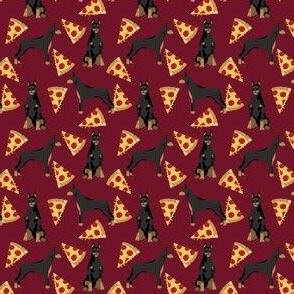 doberman (small scale) pizza food dog breed fabric
