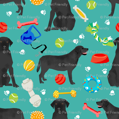 black lab (small scale) dog toys dog breed fabric blue