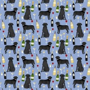 black lab (small scale) wine cocktails fabric dog lover purple