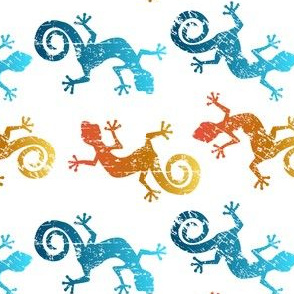 Fire and Ice Grunge Geckos