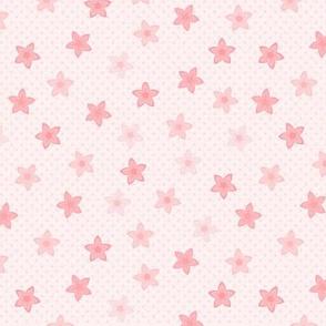 Sierra's Flower: Millennial Pink Scattered Flowers