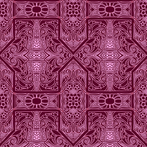 Black Cherry Gothic fabric by edsel2084 on Spoonflower - custom fabric