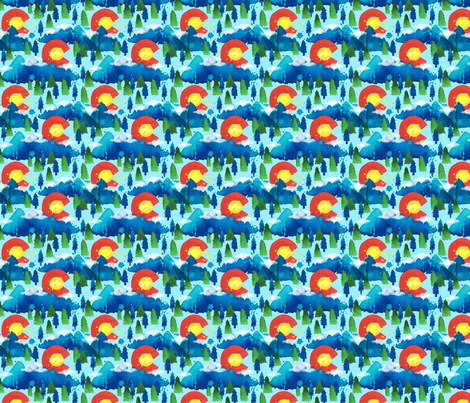 Colorado Sun and Splash fabric by everhigh on Spoonflower - custom fabric
