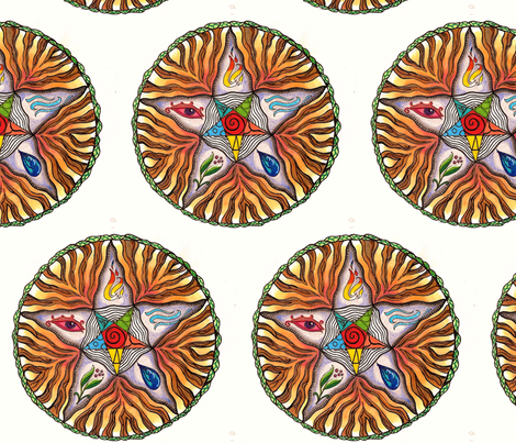 Pentacle fabric by dragonian_dreams on Spoonflower - custom fabric