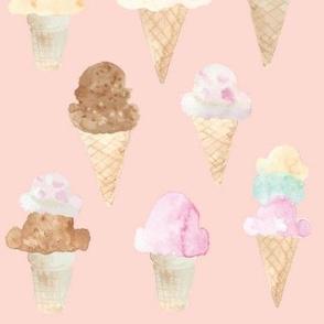ice cream cones pink large