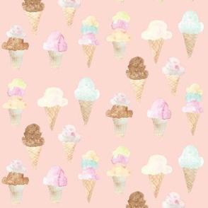 ice cream cones pink