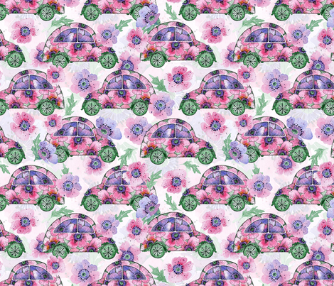 girl power poppy car fabric by shafranka on Spoonflower - custom fabric
