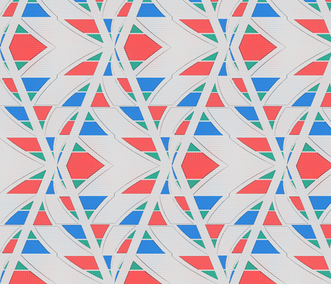 Thorn Geometry (Bone) fabric by david_kent_collections on Spoonflower - custom fabric