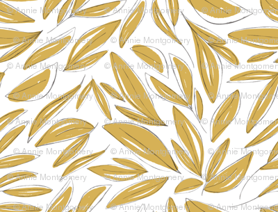 Floral Sketches Gold