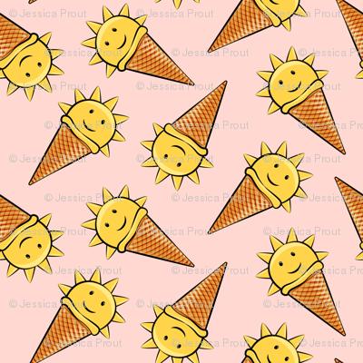 sunshine icecream cones on pink (toss)