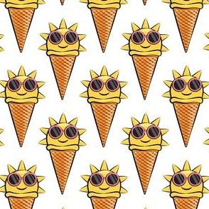 sunshine icecream cones (with glasses) white