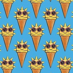 sunshine icecream cones (with glasses) dark blue