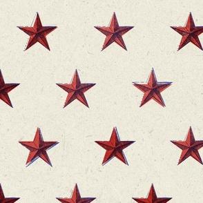 stars print red blue