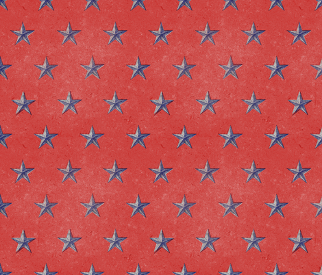 stars print red white and blue vintage fabric by ghouk on Spoonflower - custom fabric