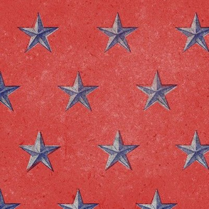 stars print red white and blue vintage