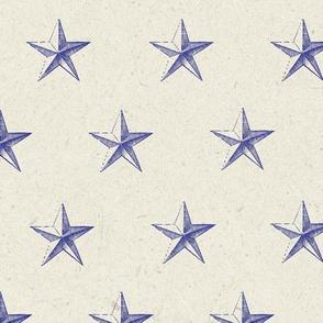 stars print blue engraved textured