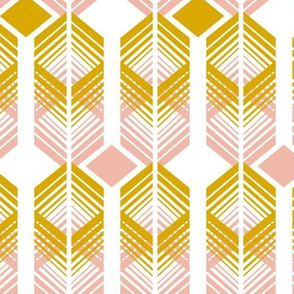 De-Lux - Blush & Goldenrod Retro Geometric