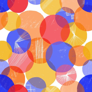 Bauhaus Bubbles (Primary colors)