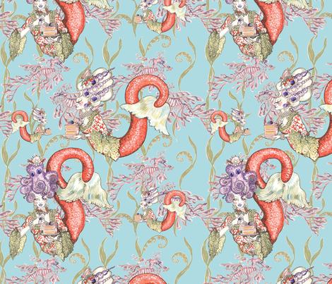 New Gateau Marie repeat fabric by marie-joie_hughes on Spoonflower - custom fabric
