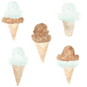 ice cream cones green large