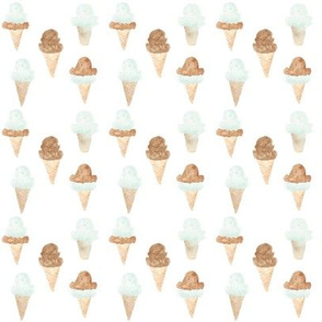 green ice cream cones mini