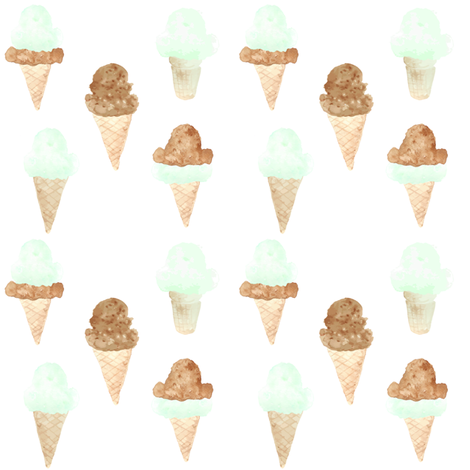 ice cream cones green fabric by sahndamarie on Spoonflower - custom fabric