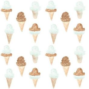 ice cream cones green