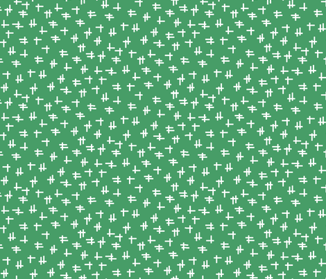 Rolling Robots companion crosshatch green fabric by inklaura on Spoonflower - custom fabric