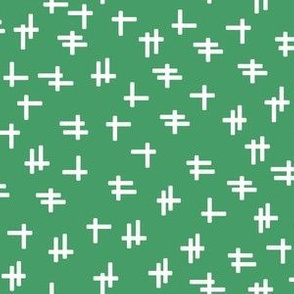 Rolling Robots companion crosshatch green