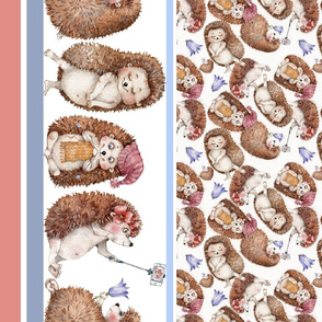 cute hedgehogs Izmaylova border mixed